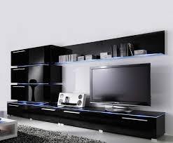 liren 2 black media wall unit