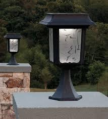set of 2 large aluminum solar post lights