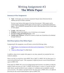 Solved Writing Assignment 3 The White Paper Summary Of The