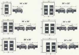 Garage  20 Car Garage Plans Building A 2 Car Detached Garage Size Of A 2 Car Garage