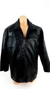 leather works mens black leather coat jacket size l