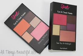sleek eye cheek palettes in dancing til dusk see you at midnight swatches
