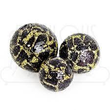 Black And Gold Decorative Balls Mosaic Glass Decorative Ball Gold Black Be Fabulous 1