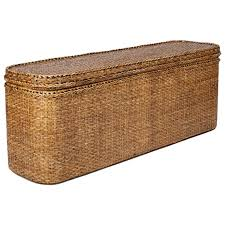 ... Rattan Indochine Bed End Chest ...