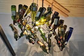 image of anthropologie wine bottle chandelier