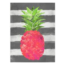 Pink Pineapple Canvas Wall Art X In Painting Easy Decoration Quote