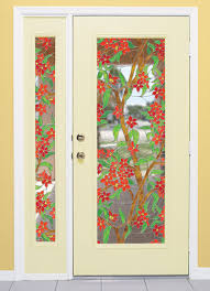 give you front door and sidelight a whole new look with wallpaper for windows stained