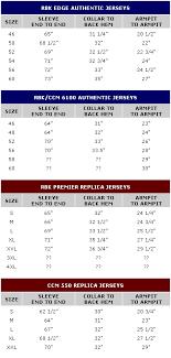 Hockey Jersey Size Conversion Chart Nhl Jersey Size 52 Equivalent Kasa Immo