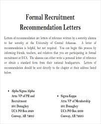 sorority letter of recommendation example sample sorority recommendation letter 6 examples in word pdf