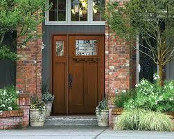home depot craftsman door craftsman 3 lite arch stained mahogany wood front door with craftsman garage