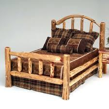Cedar Bed Frame Rustic Red Cedar Log Bed Cedar Post Bed Frame ...