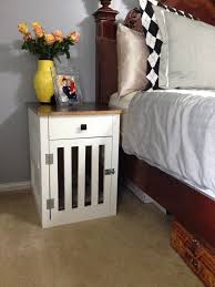 diy dog crate nightstand