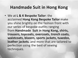 handmade suit in hong kong