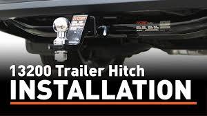 Trailer Hitch Install: CURT 13200 on a Toyota Highlander - YouTube
