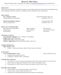 Job Resume Sample Of Cashier Resume Fast Food Cashier Resume Inside Sample  Of Resumes Resume Examples