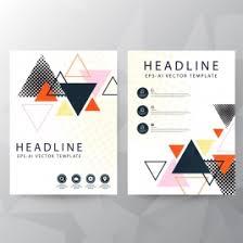 brochure cover template colorful triangles decor