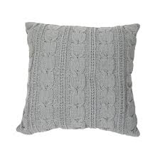 Soft Cable Knit Pillow ...
