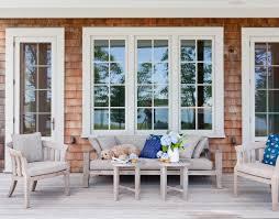 hampton bay patio furniture porch beach with beach house beige door trim beige window trim blue