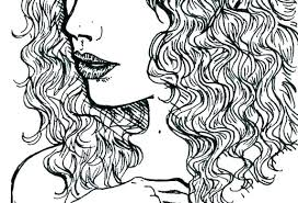 Crazy Hair Colouring Pages Coloring Day Long Recolor Stylist Amusing