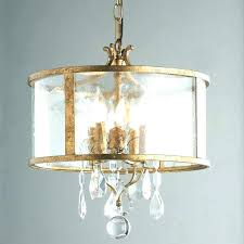 drum style chandelier shades with crystals