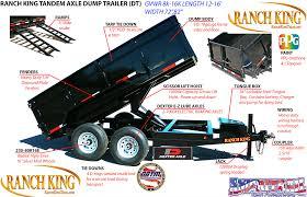 trailerwheel com tandem axle dump trailer