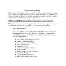Process And Procedure Manual Template