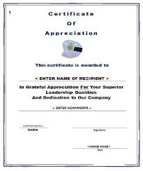 Words Of Appreciation For Employee 30 Free Certificate Of Appreciation Templates And Letters