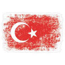 Eskitme Türk bayrağı Sticker - 18074