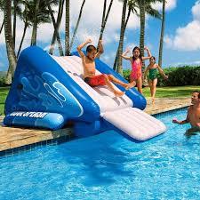inflatable inground pool slide. Inflatable Pool Slides For Inground Pools \u2014 Optimizing Home Decor Ideas : Slide Extra Swimming Fun A
