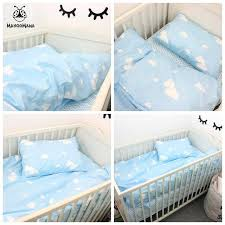 a set baby bedding blue clouds design cotton kids customized cloud cot exotic cloud baby bedding