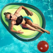 Cute Avocado <b>PVC Inflatable Floating Row</b> Swimming Ring Water ...