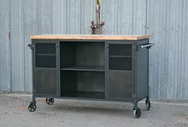 Rustic Kitchen Island Cart Brilliant Distressed Black Modern Rustic Kitchen Island Cart With