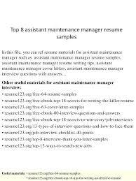 Apartment Maintenance Technician Resume Maintenance Technician Job ...