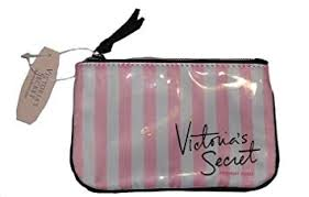 image unavailable image not available for color victoria s secret pink and white stripes coin purse cosmetic