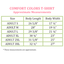 Comfort Colors Shirt Size Chart Full Monogram Comfort Colors T Shirt Neon Pink