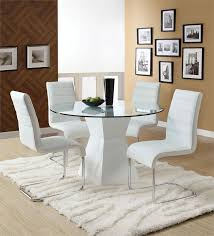 image of modern round dining table