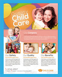 Sample Child Care Flyers Yamanstartflyjobsco Child Care Advertising