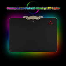 creative led lighting. OVANN Creative LED Lighting Gaming Mouse Pad USB Wired Computer Notebook Mice Mat - Black Led C