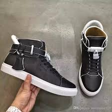 with box fashion shoes casual walking shoes men women sneakers shoes metal locks comfortable white black leather personality with decoration tennis shoes