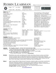Actor Resume Actor Resume Television Free Resume Templates 78