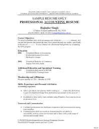 Accounting Internship Resume Objective Examples Resumes Career
