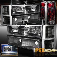 97 gmc sierra tail lights 1994 1998 gmc sierra yukon suburban 10pcs black headlights smoke