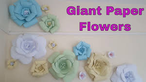 diy giant wall flower decor diy paper flowers wall art room decor how to make flow