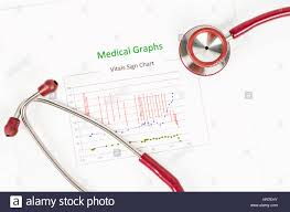 Medical Vitals Chart Vitals Sign Chart Medical Graphs And Red Stethoscope On