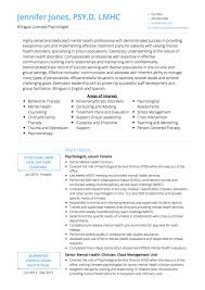 Psychologist Cv Examples And Template