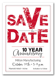 Red Save The Date Cards Edgy Red Business Save The Date Cards