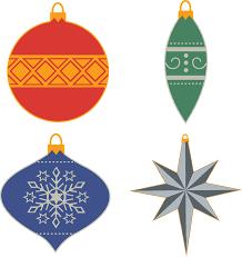 Ornamente Christbaumschmuck Kostenlose Vektorgrafik Auf