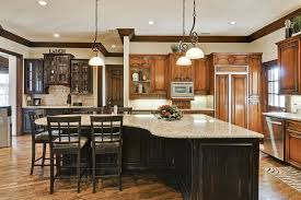 Kitchen:Awesome L Shape Kitchen Decoration With Black Granite Kitchen Island  Extraordinary Kitchen Decoration With