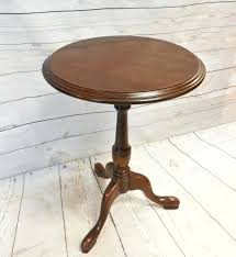 ethan allen coffee table and end tables end tables round pedestal end table stunning inside amazing vintage queen style cherry on tables large size of