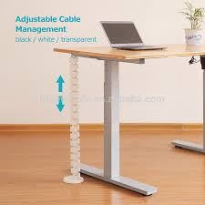 under desk height adjule cable management with thread guide for standing desk height adjule cable management cable management height